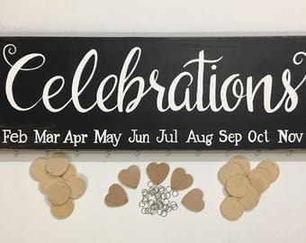 Family Celebrations birthday anniversary date board