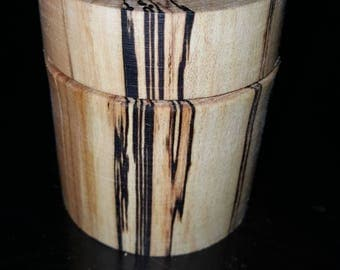 Spalted Maple ring box with 9mm luger casing