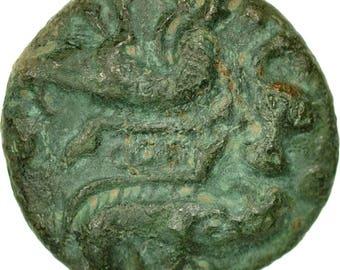 coin ambiani bronze aux sanglier affrontés ef(40-45) bronze delestrée464