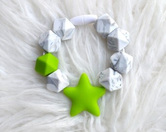 Green Star Teether