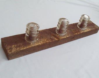 Antique Glass Insulator Coat Rack