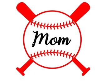 Baseball Monogram | MOM, DAD or Custom Name| Perfect for your laptop, phone case, YETI, tumbler, car window | Lots of Colors!