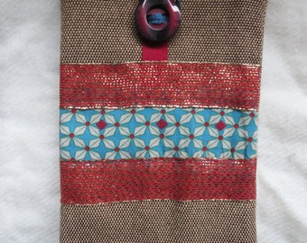 Fabric pocket. Lined. handcrafted, made 100% handmade. Unique model.
