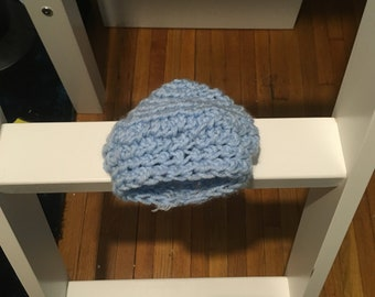 Blue Baby Hat warm and cozy for winter weather