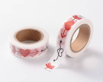 Heart/Valentines Washi Tape - 15mm x 10 Meters - #SW105