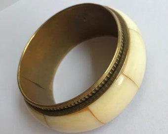 Vintage Brass Bone Bracelet