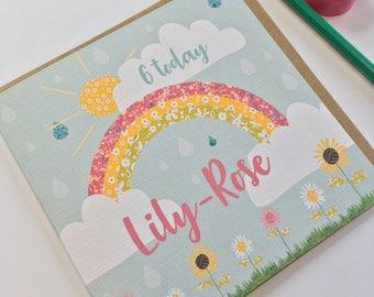 Birthday card - Rainbow