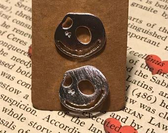 Jack Skellington Inspired Stud Earrings