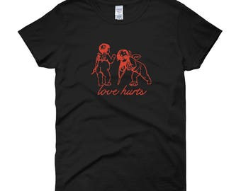 Valentines Day Love Hurts T-Shirt Cupid Cherub Broken Hearts