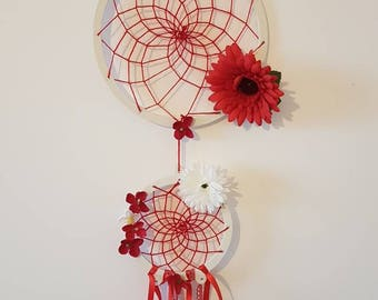 Dream catcher red floral