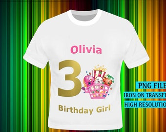 Shopkins , Shopkins Iron On Transfer, Shopkins Birthday Shirt DIY. Girl Birthday Shirt DIY, Shopkins Party Shirt , Digital Files