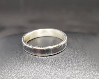 Handmade sterling silver oxidised ring