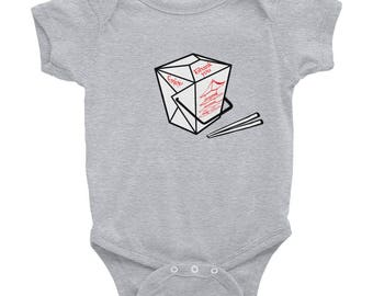 chinese takeout baby onsie