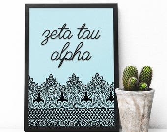 Sorority Customized Printable Poster