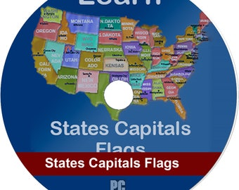 Learn United States of America Map Puzzles Quiz History (Orig) (PC Game)(CD)