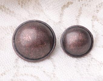 mushroom buttons 10pcs 2 size 16.5/12.5mm metal copper buttons
