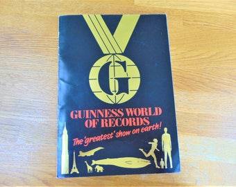 Guinness World of Records Exhibition Guide Booklet London 1989 Vintage Softback Non Fiction