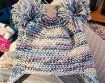 Crochet Fair Isle Baby Hat
