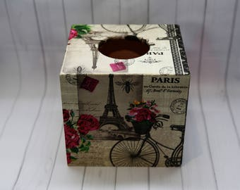 Tissue Box,Handmade tissue box,decoupage,wooden box,gift box,Square Tissue box,gift,Mother's day gift,Birthday gift