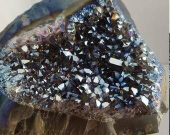 Blue Titanium Aura Amethyst