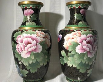 Chinese Cloisonne Vases