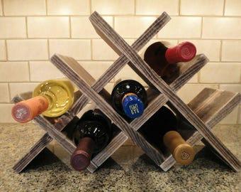 Custom made wooden wine rack