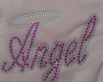 Rhinestone girls sweatshirts states Angel