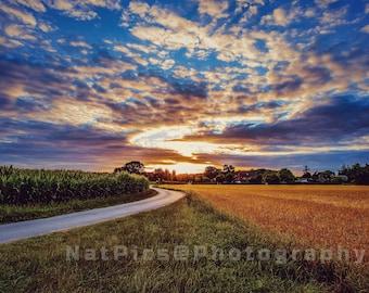 Way to Heaven, Road to Heaven, Dream landscape, dreamy landscape, sunset, sunset, beautiful sky, amazing sky, romantic