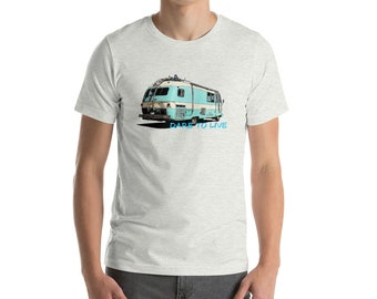 Camping T-Shirt-Vintage Camper T-Shirt-Camping Trailer T-Shirt-Dare To Live T-shirt-Travel Trailer T-Shirt