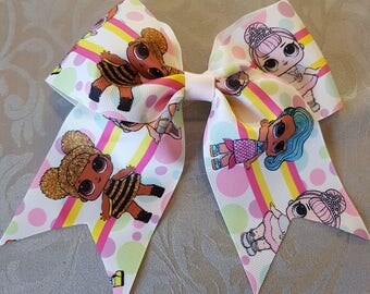 Handmade lol surprise doll cheer bow