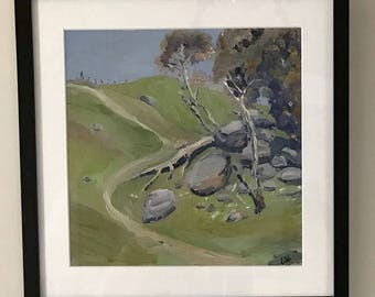 Australian Bushscape is is an original oil painting hand painted by myself.