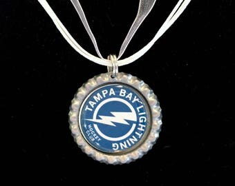 Tampa Bay LIGHTNING Handcrafted Hockey Necklace