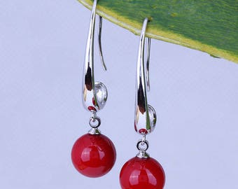 Red Drop Earrings