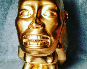 Indiana Jones Raiders of The Lost Ark Fertility Idol Golden Idol Prop Replica