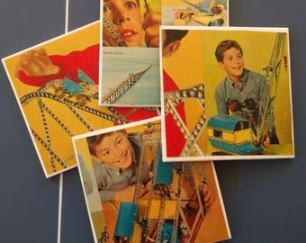 Vintage Toy Tile Coaster Set