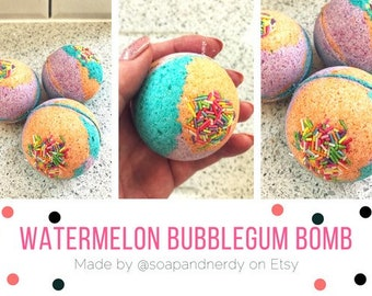 Watermelon Bubblegum Bath Bomb
