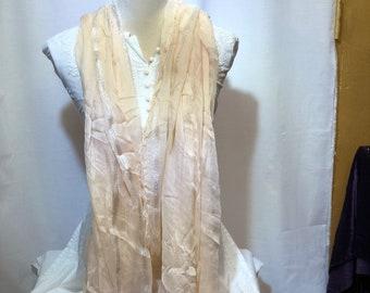 Half white plane scarf  | summer collection | light weight | handwoven.