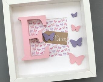 Personalised Girls Frame / New Baby Gift