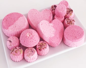 Rose bath bomb gift set