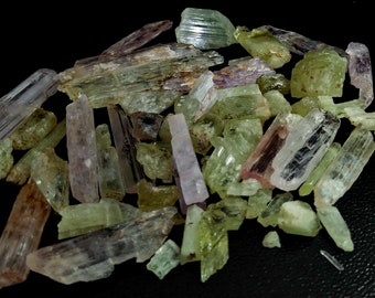 726.40 Unheated & Natural Multi Color Kunzite Rough Stone