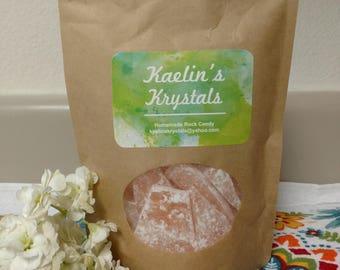 Peach Hard Candy Kaelin's Krystals Homemade Rock Candy