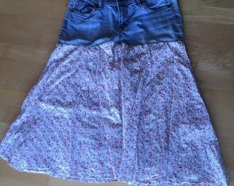 Upcycled recycled ladies skirt