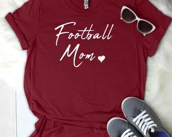 Football Mom Women's T Shirt UNISEX Bella Canvas Soft Style Motherhood #momlife ladies shirt mom life sports mom