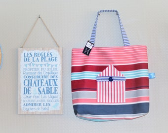 Tote cabin Beach Made in France
