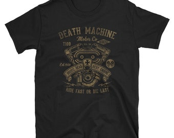 Death Machine Hot Rod Rockabilly Biker Inspired Men's T-Shirt