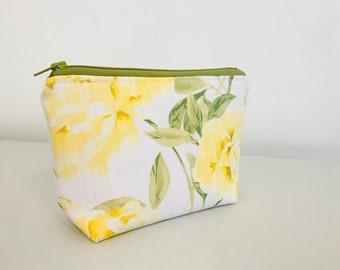 Yellow Flower Essential Oil Bag | Makeup Bag