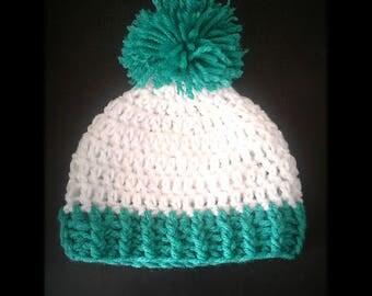 Crochet Toddler Beanie w/ Pom Pom