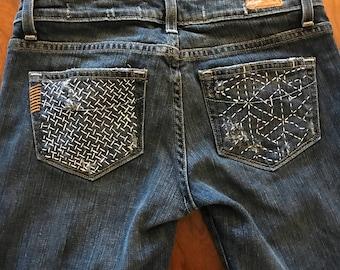 Sashiko jeans