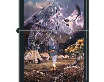 Artist Ted Blaylock Spirit of the Flame Zippo Lighter