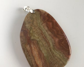 Large Agate Pendant | With Bail | Gemstone